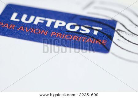 luftpost air mail stamp