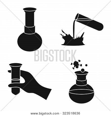 Vector Design Of Pharmacology And Experiment Logo. Set Of Pharmacology And Chemistry Vector Icon For