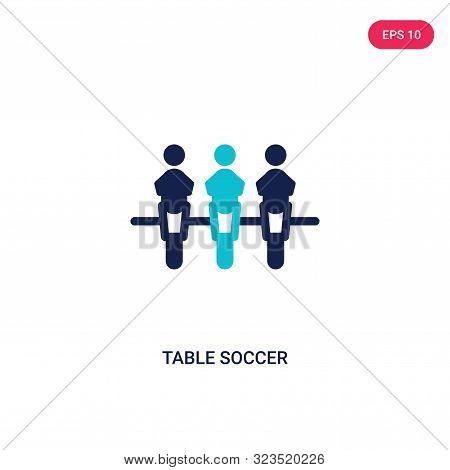 table soccer icon in two color design style.