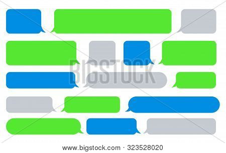 Sms Message Bubbles. Vector Texting Messages, Bubble Images For Send And Receive Text, Phone Messagi