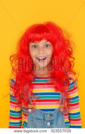 Messy Hairstyle. Kid Cheerful Smiling Happy Redhead Girl. I Am Ginger And Proud Of It. Redhead Stere