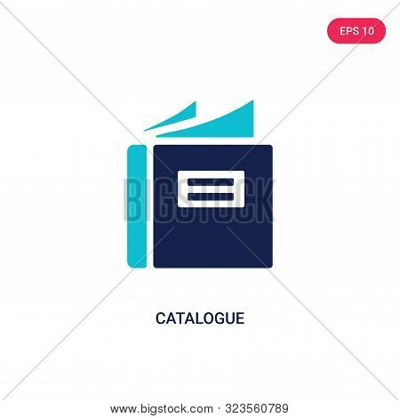 catalogue icon in two color design style.