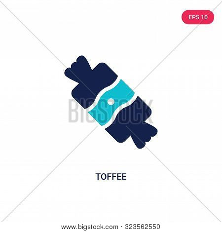 toffee icon in two color design style.