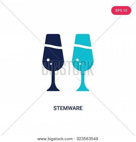 stemware icon in two color design style.