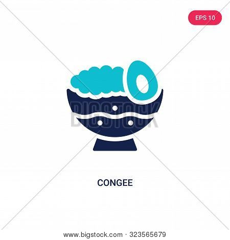 congee icon in two color design style.