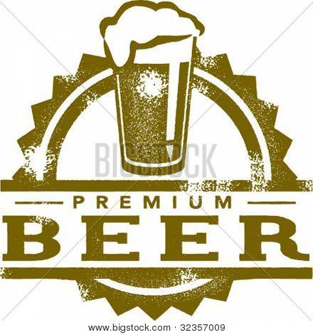 Carimbo de estilo Vintage de cerveja Premium