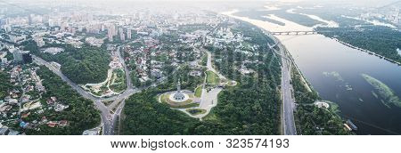 Kiev, Ukraine - June 12, 2019: Panorama Of The City Of Kiev, The Capital Of Ukraine. Panorama Of Kie