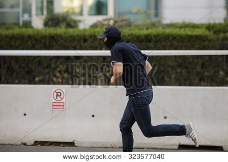 Bucharest, Romania - September 22, 2019: Agent From The Counter-terrorism Brigade Of The Romanian In