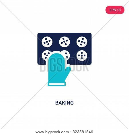 baking icon in two color design style.