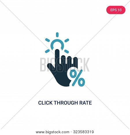 click through rate icon in two color design style.