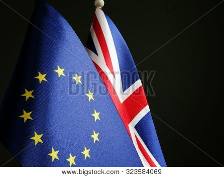 Brexit Concept Great Britain And Eu Flags.