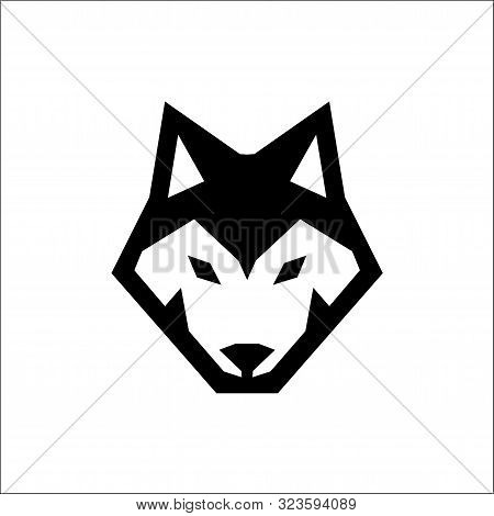 Wolf Head Icon Logo Vector,wolf Logo Vector