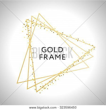 Gold Frame Decor Isolated Vector Shiny Gold Metallic Gradient Border Pattern For Your Design