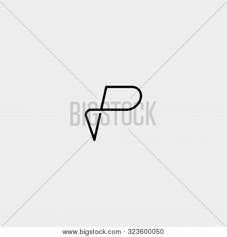 Letter P Pp Monogram Logo Design Minimal