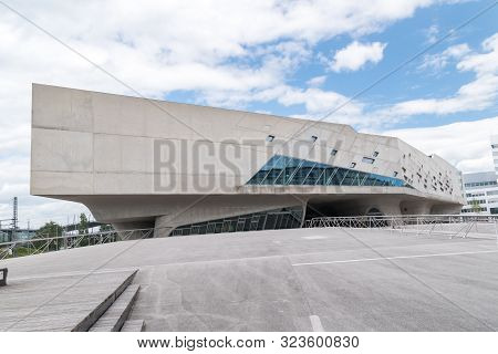 Wolfsburg, Germany - June 8, 2019: Exterior View Of Interactive Science Center The Phaeno Science Ce