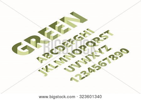 Hole Font. Alphabet Isometric Techno Trendy Bricks Signs 3d Letters Vector Font. Illustration Abc Tr