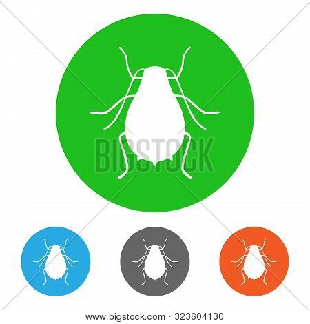 Aphid, Sap-sucking Insect. Icon Set. Vector Illustration.