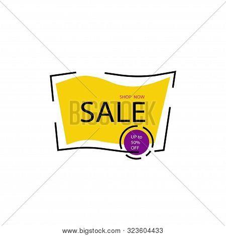Yellow Sale Banner Template Design. Shop Now Illustration. Season Special Offer Banner. Discont Bann