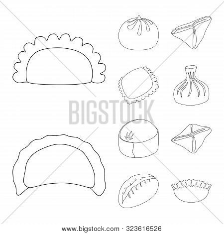 Isolated Object Of Food And Dish Icon. Set Of Food And Cooking Stock Vector Illustration.