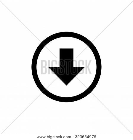Arrow Icon. Download Icon. Down Arrow Icon. Down Icon. Down Arrow Vector Icon. Down Arrow Isolated I