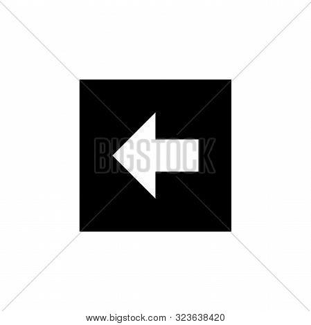 Arrow Icon. Back Icon. Back Arrow Icon. Left Arrow Vector Icon. Back Arrow Isolated Icon. Left Icon.
