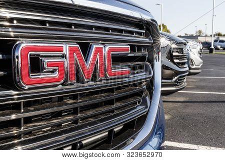 Kokomo - Circa September 2019: Gmc Suv Display At A Buick Gmc Dealership. Gmc Focuses On Upscale Tru