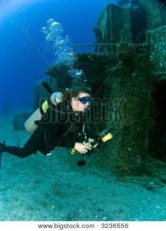 Female Underwater Photographer
