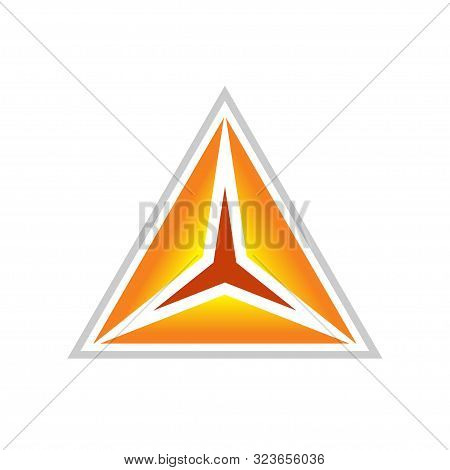 Golden Clarity Triangle Vector Symbol Graphic Logo Design Template