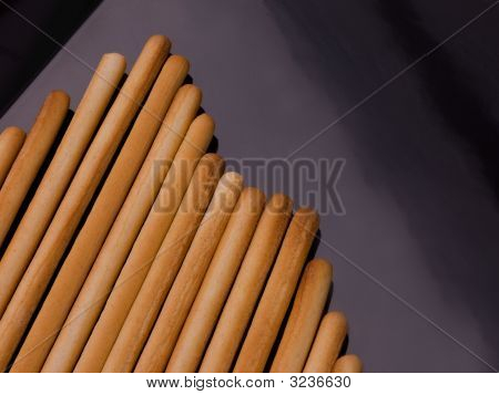 Bread Stick On Black.