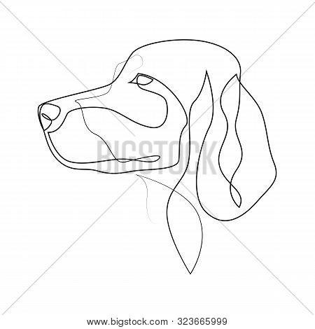 Continuous Line Irish Setter. Single Line Minimal Style Setter Dog Vector Illustration