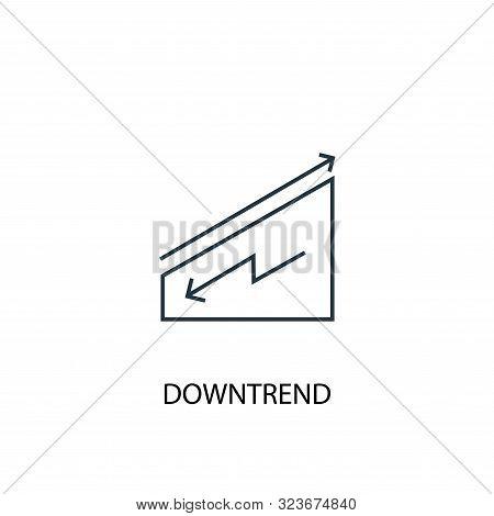 Downtrend Concept Line Icon. Simple Element Illustration. Downtrend Concept Outline Symbol Design. C
