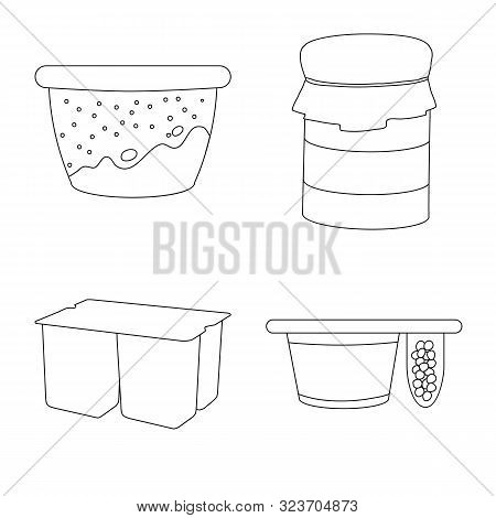 Isolated Object Of Calcium And Food Icon. Set Of Calcium And Product Stock Vector Illustration.