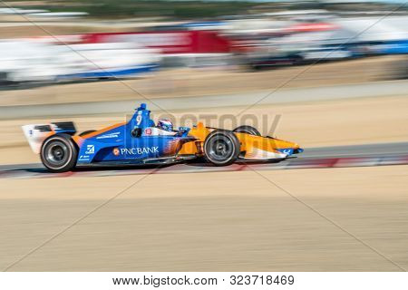 September 21, 2019 - Salinas, California, USA: SCOTT DIXON (9) of Auckland, New Zealand  practices for the Firestone Grand Prix of Monterey at Weathertech Raceway Laguna Seca in Salinas, California.