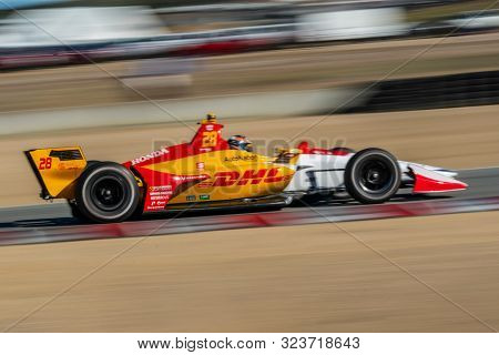 September 21, 2019 - Salinas, California, USA: RYAN HUNTER-REAY (28) of the United States  practices for the Firestone Grand Prix of Monterey at Weathertech Raceway Laguna Seca in Salinas, California.