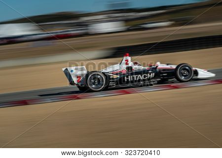 September 21, 2019 - Salinas, California, USA: JOSEF NEWGARDEN (2) of the United States  practices for the Firestone Grand Prix of Monterey at Weathertech Raceway Laguna Seca in Salinas, California.