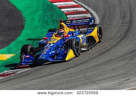 September 20, 2019 - Salinas, California, USA: ALEXANDER ROSSI (27) of the United States  practices for the Firestone Grand Prix of Monterey at Weathertech Raceway Laguna Seca in Salinas, California.