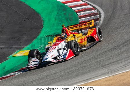 September 20, 2019 - Salinas, California, USA: RYAN HUNTER-REAY (28) of the United States  practices for the Firestone Grand Prix of Monterey at Weathertech Raceway Laguna Seca in Salinas, California.