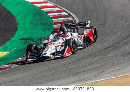September 20, 2019 - Salinas, California, USA: MARCO Andretti (98) of the United States  practices for the Firestone Grand Prix of Monterey at Weathertech Raceway Laguna Seca in Salinas, California.