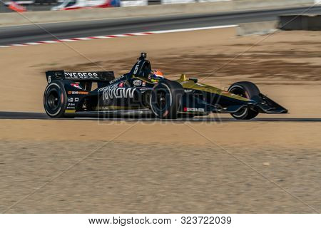 September 21, 2019 - Salinas, California, USA: JAMES HINCHCLIFFE (5) of Toronto, Canada  practices for the Firestone Grand Prix of Monterey at Weathertech Raceway Laguna Seca in Salinas, California.