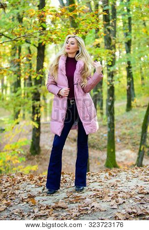Outfit Prove Puffer Coat Can Look Stylish. Jackets Everyone Should Have. Girl Fashionable Blonde Wal
