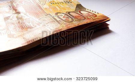 Nairobi, Kenya - September 18: A Bundle Of 1000 Kenya Bank Notes On White Taken On September 18, 201