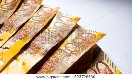 Nairobi, Kenya - September 18: 1000 Kenya Bank Notes Against A White Background Taken On September 1