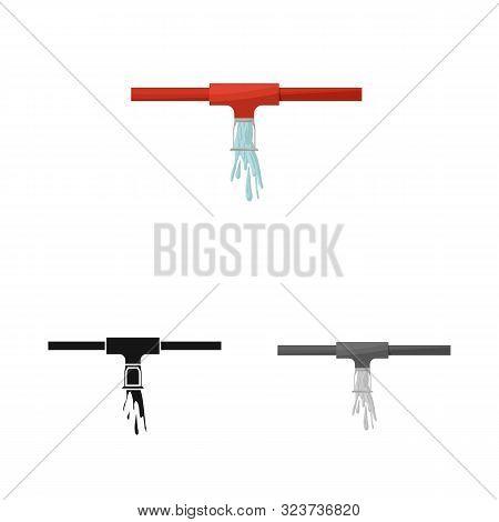 Vector Illustration Of System And Sprinkler Sign. Set Of System And Suppression Vector Icon For Stoc