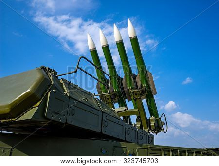 Ballistic Missile Launcher With Missiles