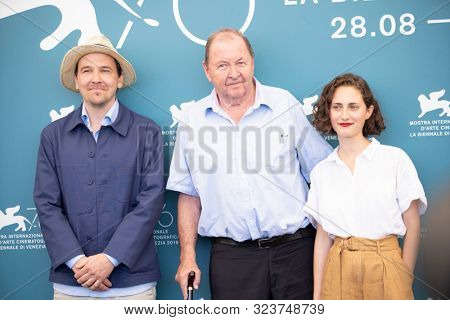 Anders Hellstrom, Roy Andersson and Tatiana Delaunay attend