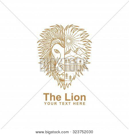 Illustration Lion Vector Photo Free Trial Bigstock Lion clipart outline from berserk on. illustration lion vector photo free