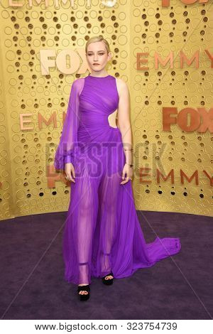 LOS ANGELES - SEP 22:  Julia Garner at the Primetime Emmy Awards - Arrivals at the Microsoft Theater on September 22, 2019 in Los Angeles, CA