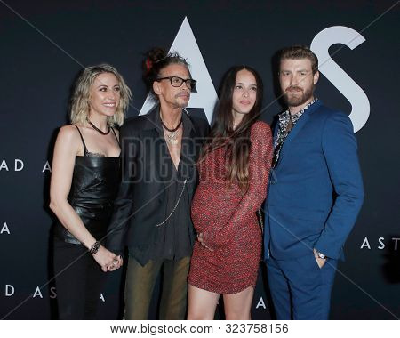 LOS ANGELES - SEP 18:  Aimee Preston, Steven Tyler, Chelsea Tyler, Jon Foster at the Ad Astra Premiere at the ArcLight Theater on September 18, 2019 in Los Angeles, CA