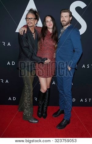 LOS ANGELES - SEP 18:  Steven Tyler, Chelsea Tyler, Jon Foster at the Ad Astra Premiere at the ArcLight Theater on September 18, 2019 in Los Angeles, CA