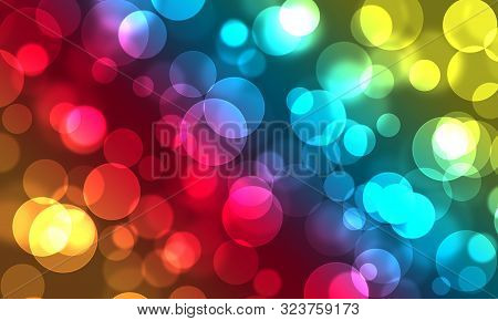 Abstract, Background, Birthday, Blue, Spot, Bokeh, Bright, Bright Festive, Bokeh Background, Celebra